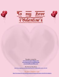 Valentines  iWork Pages Template Download Stationery