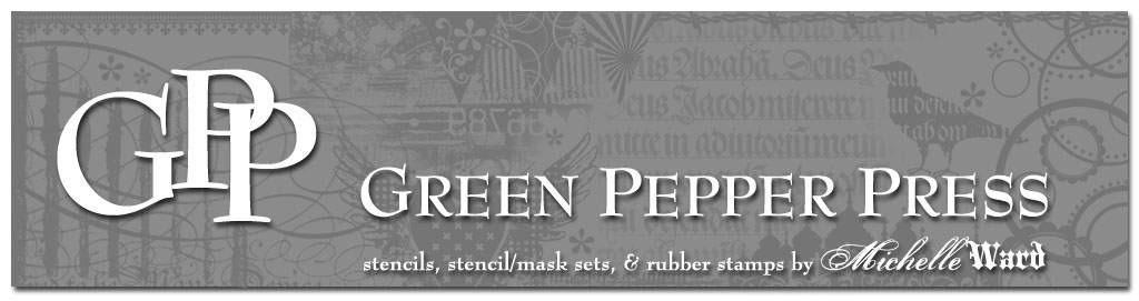 Green Pepper Press Stencils Are Used On A Project In Martha Stewart Living